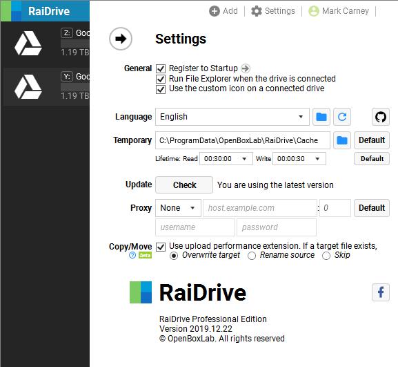 RaiDriveSetting